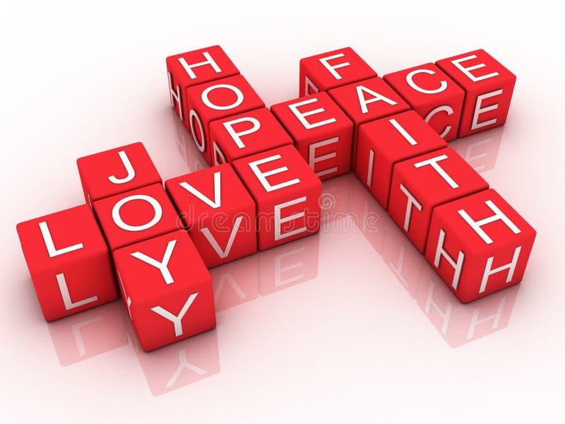 Fé, esperança e amor ilustração stock