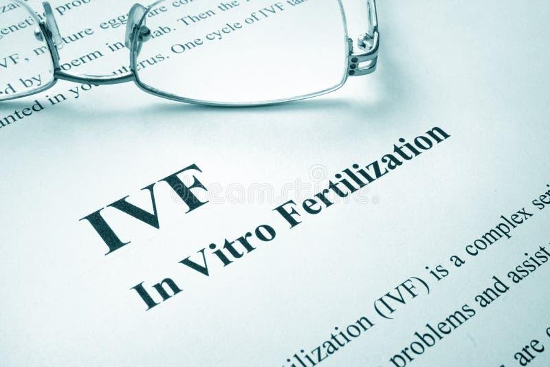 Fécondation in vitro d'IVF photo stock