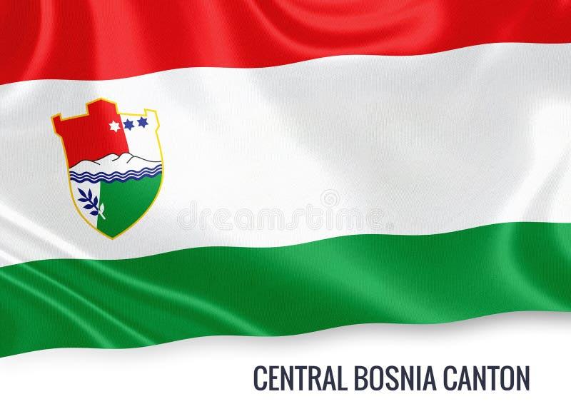 Fédération de drapeau central de canton de la Bosnie d'état de la Bosnie-Herzégovine illustration de vecteur