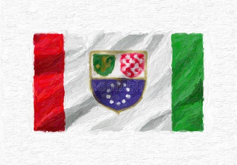 Fédération de nationa de ondulation peint à la main de la Bosnie-Herzégovine illustration stock