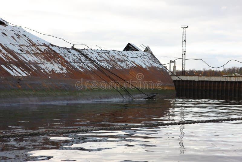 Fédération de Russie abandonnée par nord de région de Mourmansk Russie images stock