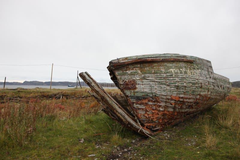 Fédération de Russie abandonnée par nord de région de Mourmansk Russie photographie stock