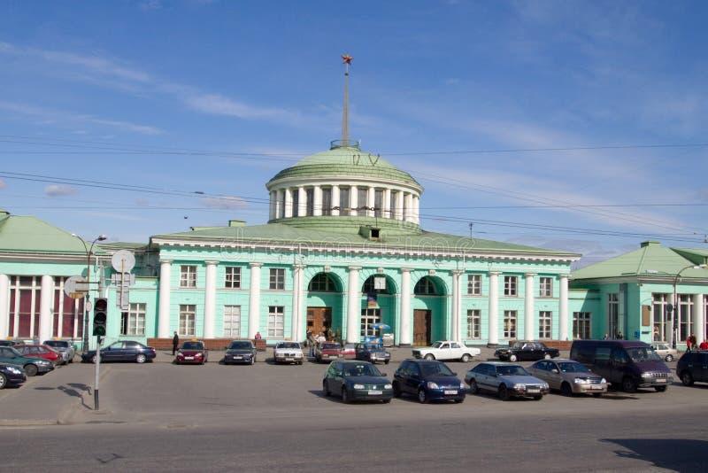 Fédération de Russie Sity Mourmansk de station images stock