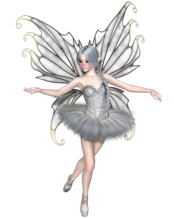 Fée d'hiver de ballerine - 1 illustration stock
