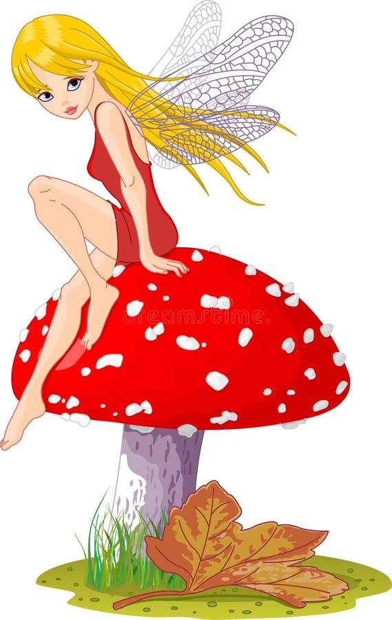 Fée de champignon de couche illustration libre de droits