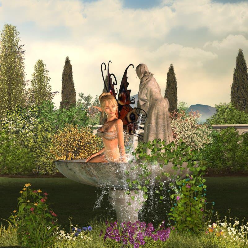 Fée de jardin - jour illustration de vecteur