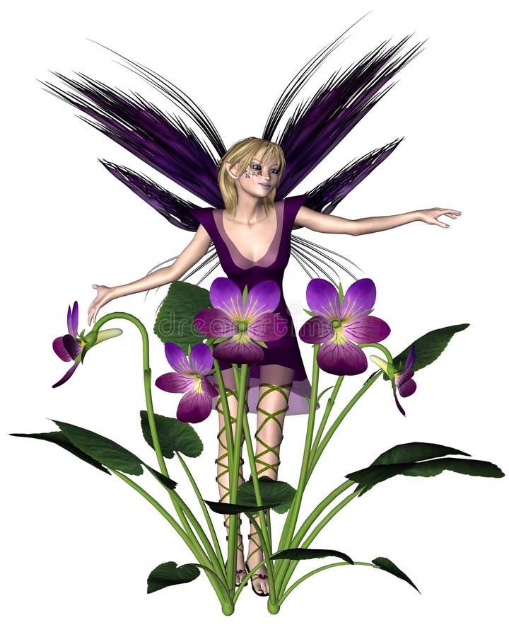 Fée de violette de source illustration libre de droits