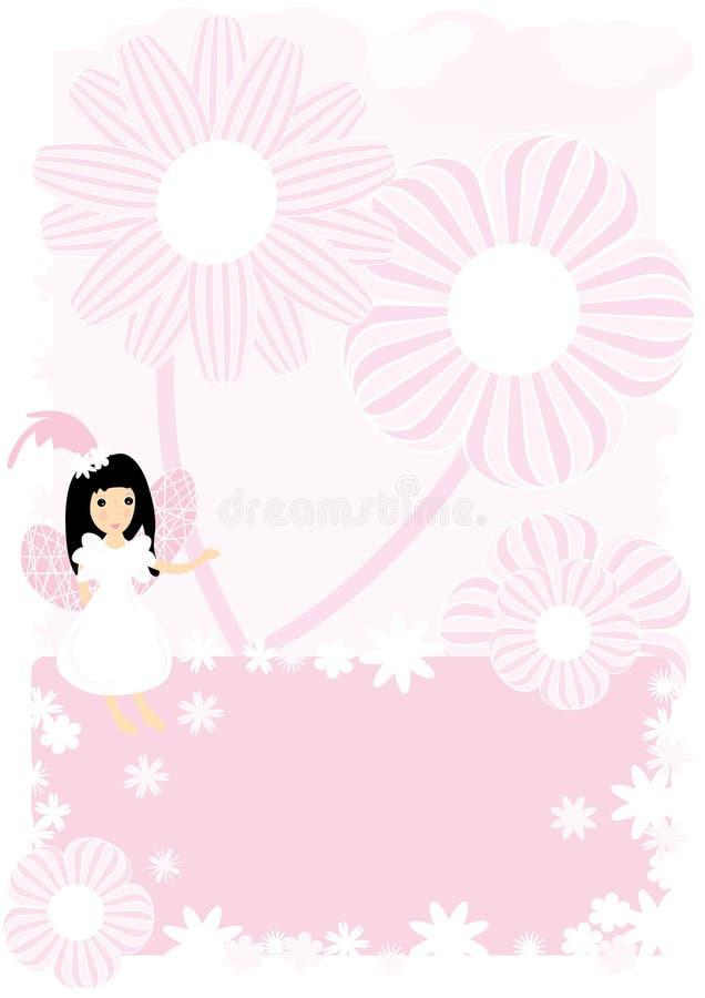 Fée et fleurs illustration de vecteur