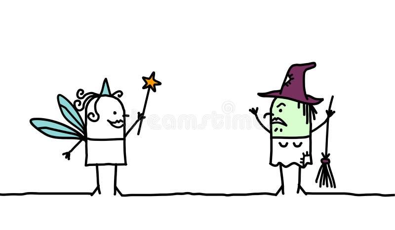 Fée et sorcière illustration de vecteur