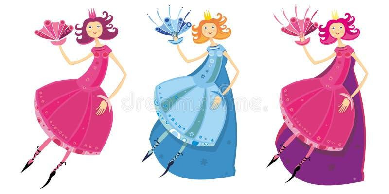 Fée ou princesse illustration libre de droits