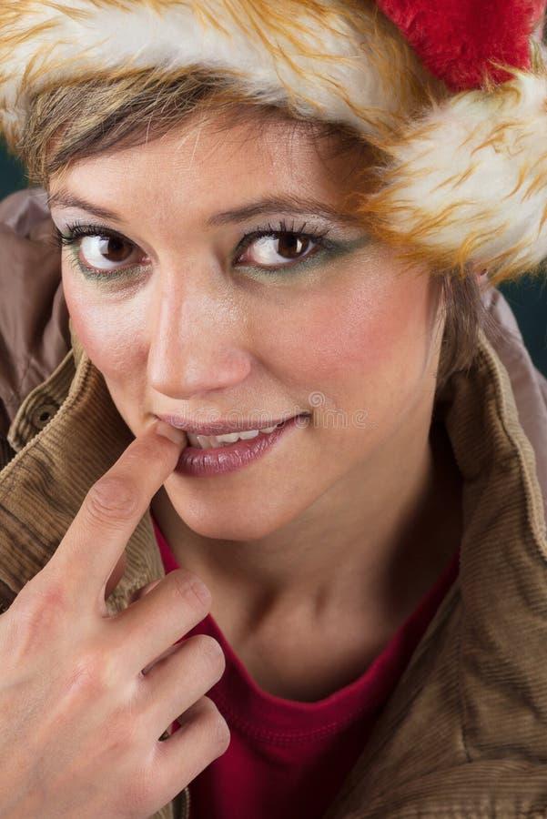 Fée sensuelle de Noël photo libre de droits