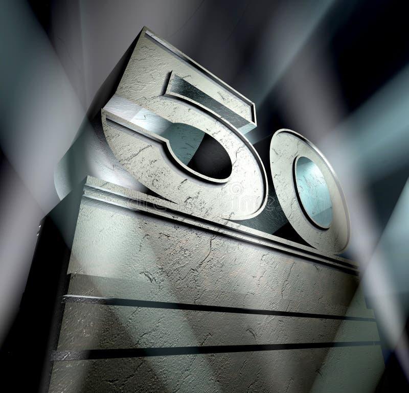 Félicitation 50 illustration stock