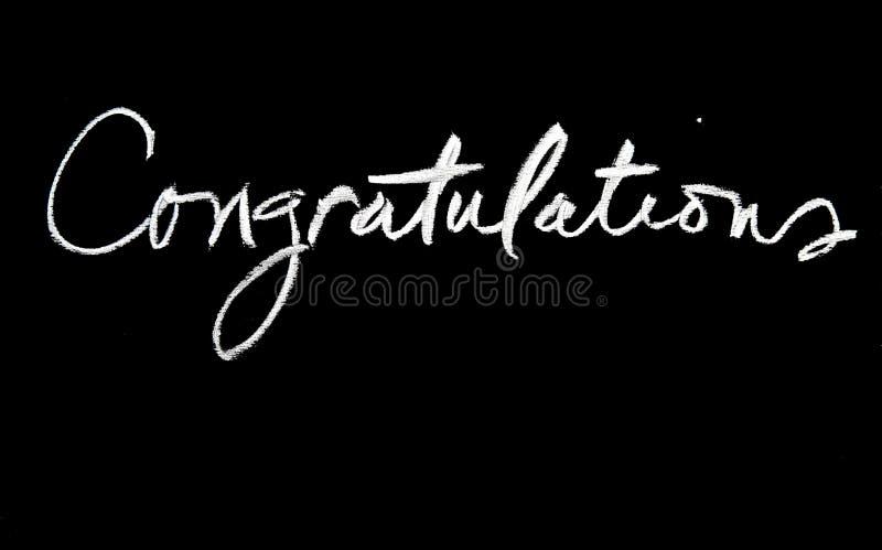 Félicitations photo stock