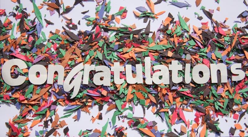 Félicitations photographie stock