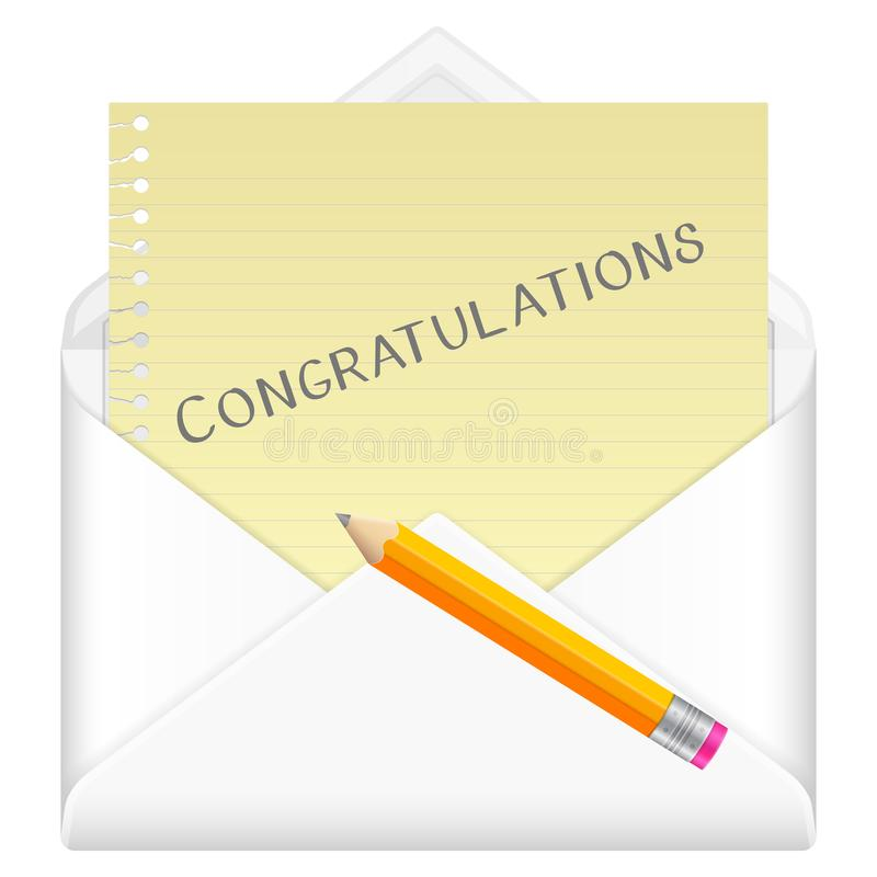 Félicitations d'enveloppe illustration de vecteur