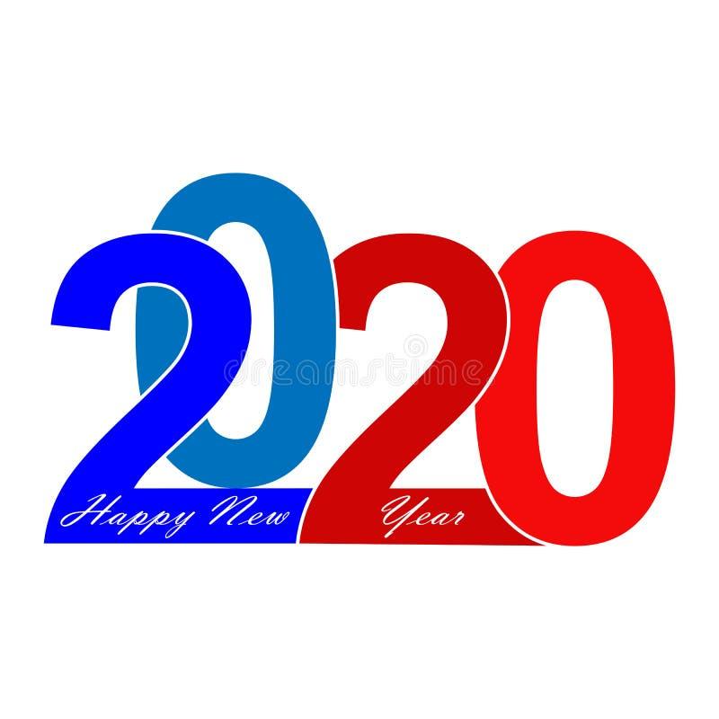 Félicitations sur la nouvelle année 2020 et Noël d'inscription le Joyeux illustration libre de droits