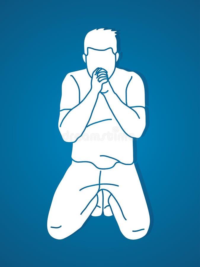 Félicitez Dieu, prière, prière chrétienne, merci Dieu de GODPraise, prière, prière chrétienne, merci un DIEU illustration de vecteur