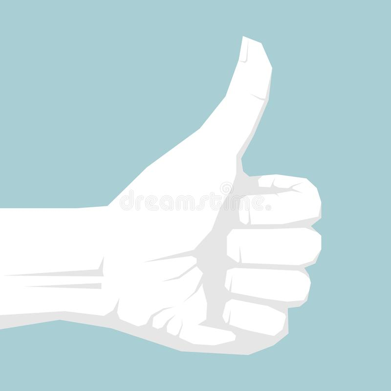 Félicitez le geste illustration stock