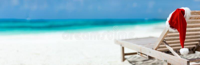 Férias da praia do Natal fotos de stock royalty free