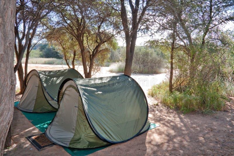 Férias de acampamento fotografia de stock royalty free