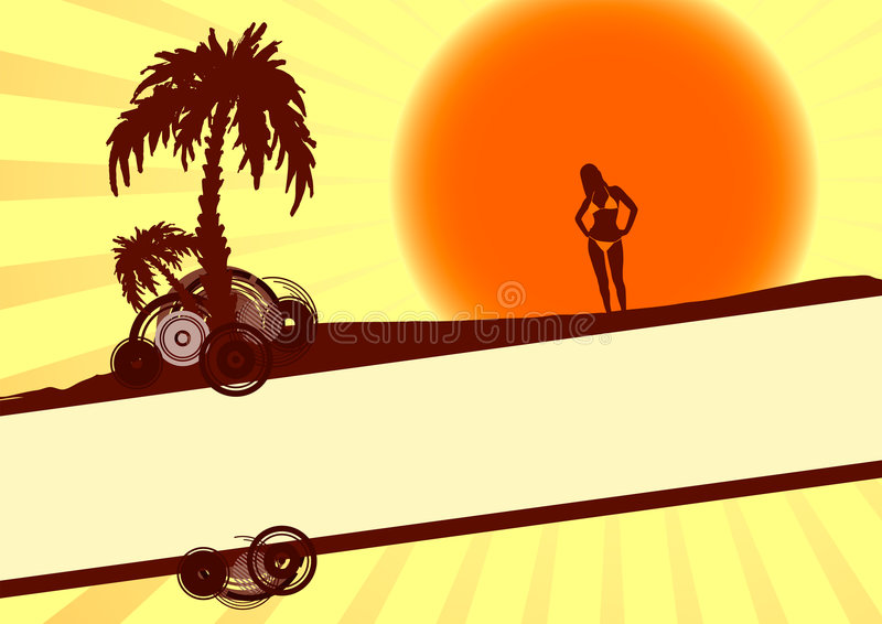 Férias de verão ilustração royalty free