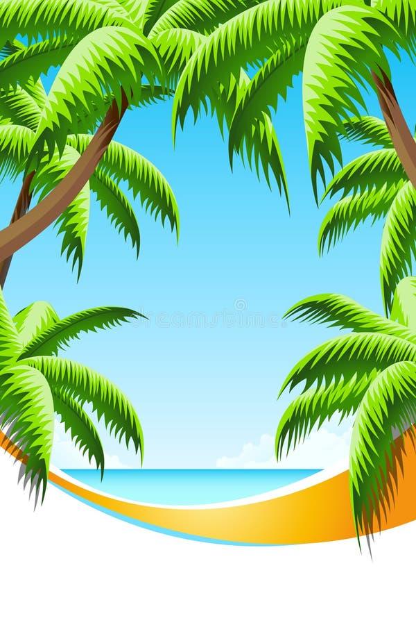 Férias de verão do fundo ilustração royalty free