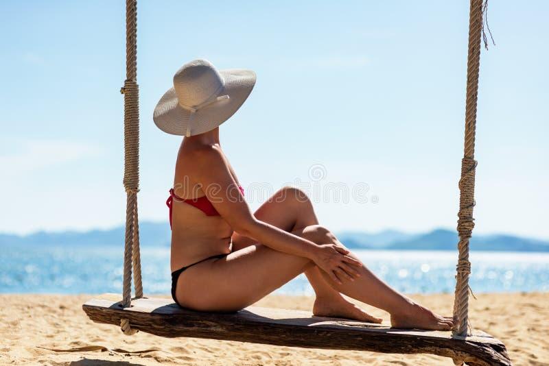 Férias de verão na ilha tropica fotografia de stock