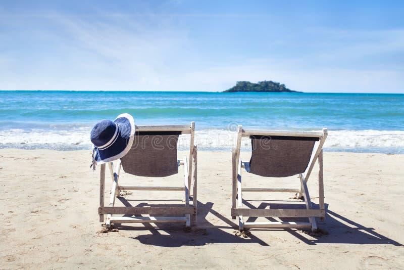 Férias de verão na praia do paraíso fotos de stock royalty free