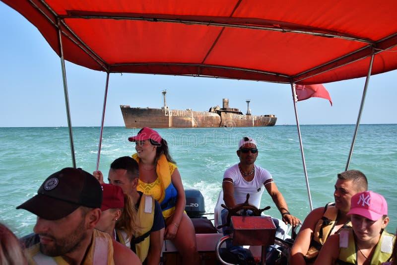 Férias de verão no Mar Negro, recurso Costinesti, Romênia foto de stock royalty free