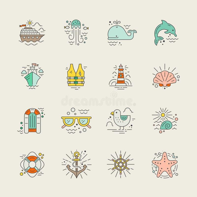Férias do cruzeiro ilustração royalty free