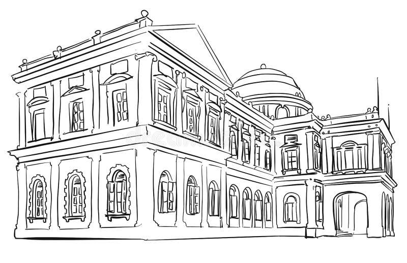 Férias do turista do museu da nação de Singapura ilustração do vetor