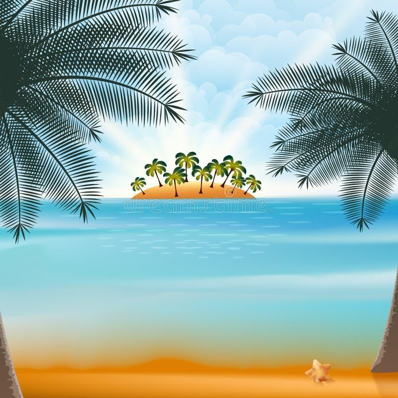 Férias e projeto retro das férias de verão. ilustração do vetor