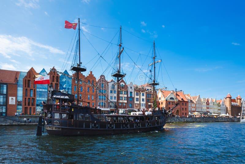 Férias em Gdansk fotografia de stock
