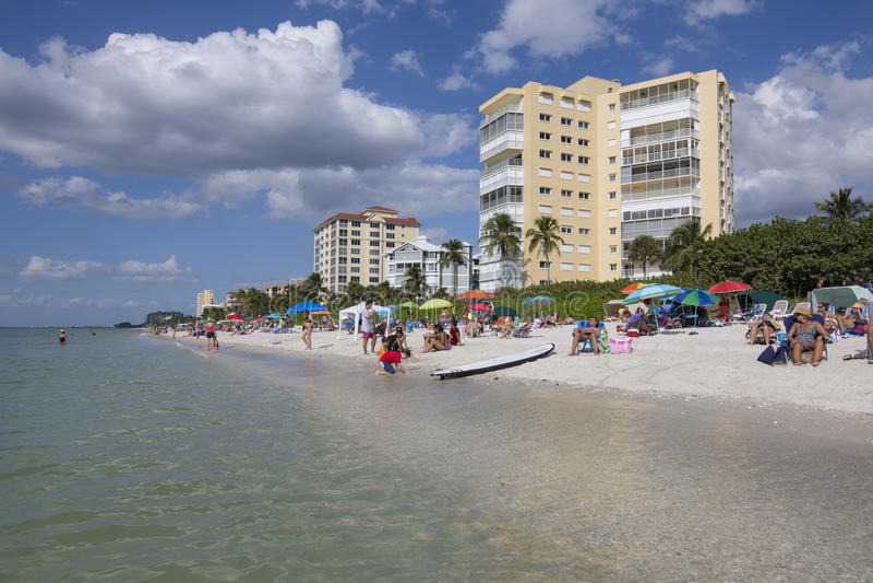 Férias em Nápoles, Florida imagens de stock