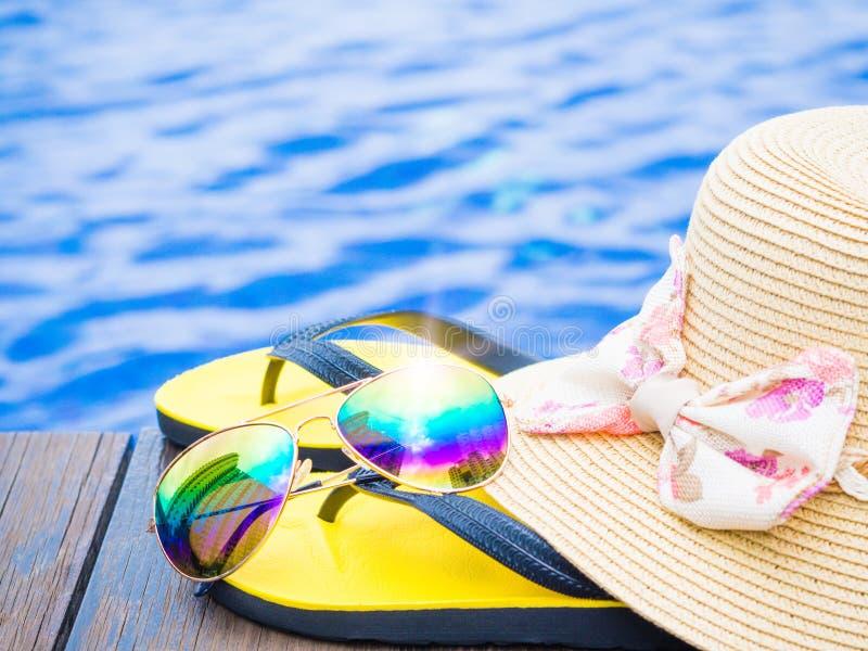 Férias, praia, conceito do curso do verão foto de stock royalty free