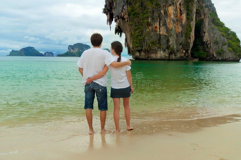 Férias românticas da praia foto de stock royalty free