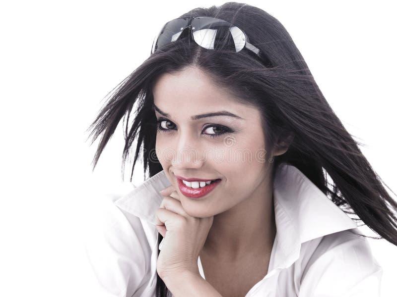 Fêmea asiática da origem indiana fotografia de stock royalty free