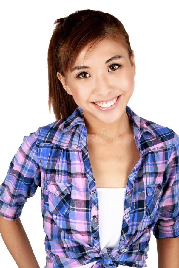 Fêmea asiática nova bonita. fotos de stock royalty free