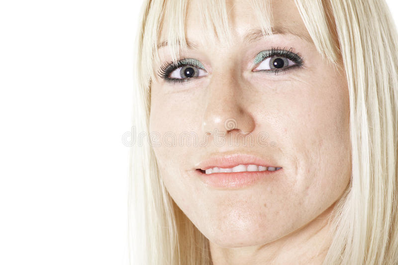 Fêmea com olhos bonitos imagens de stock