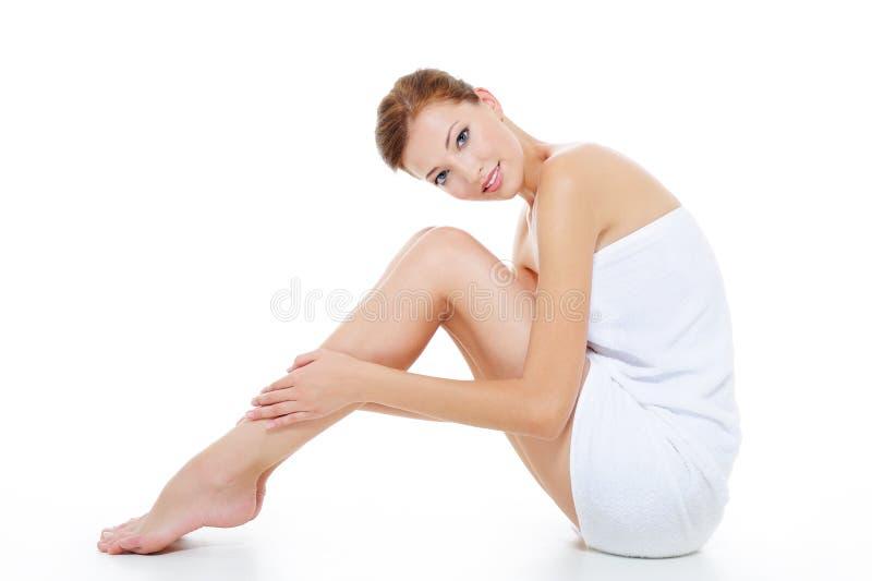Fêmea com pés bonitos fotos de stock royalty free