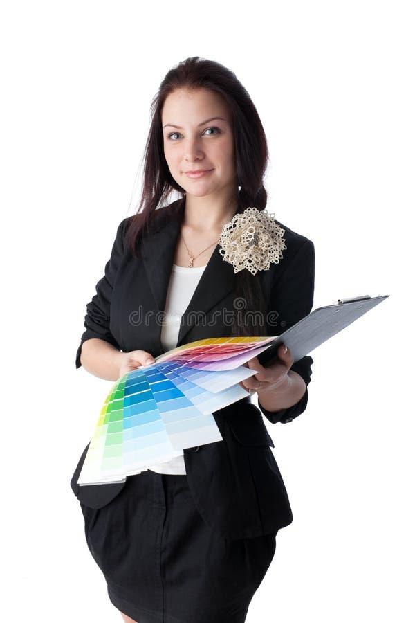 Fêmea com paleta foto de stock