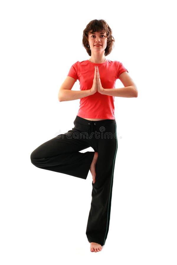 Fêmea da ioga imagens de stock