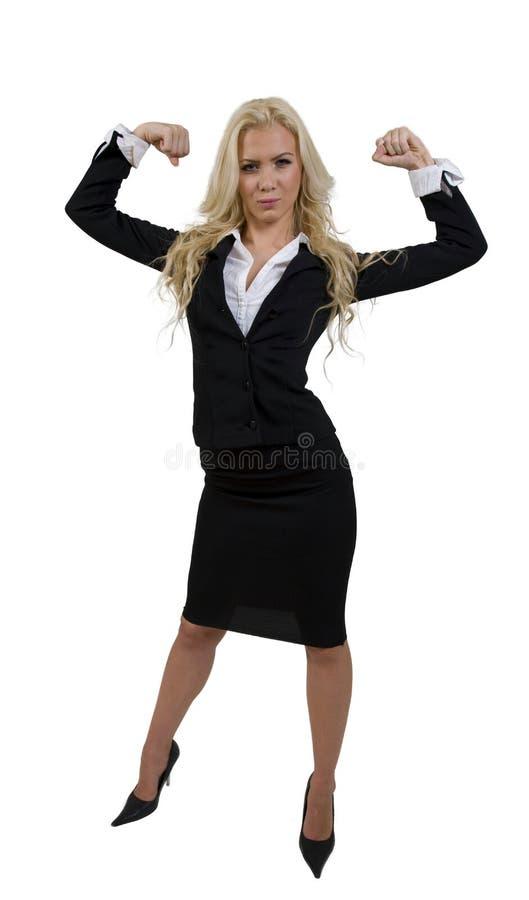 Fêmea forte ereta imagem de stock royalty free