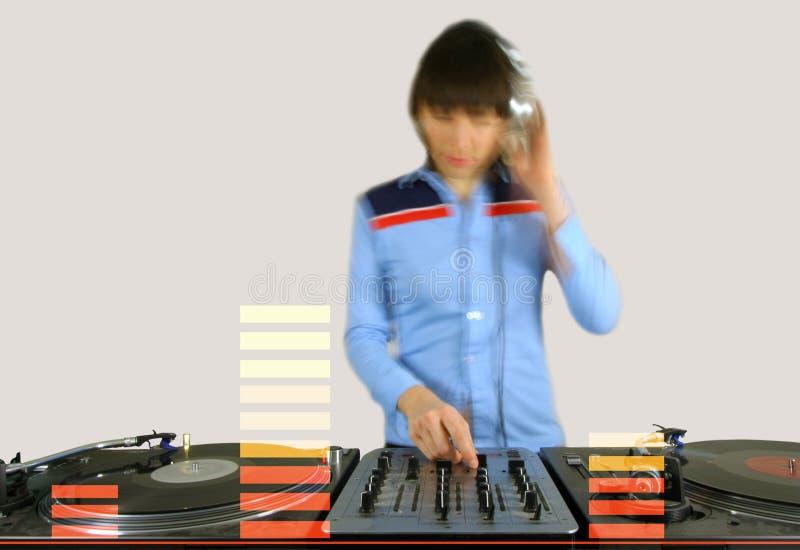 Download Fêmea Funky DJ imagem de stock. Imagem de luzes, disco - 544203