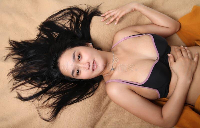 Fêmea Nova  Sexy  Asiática Imagens de Stock