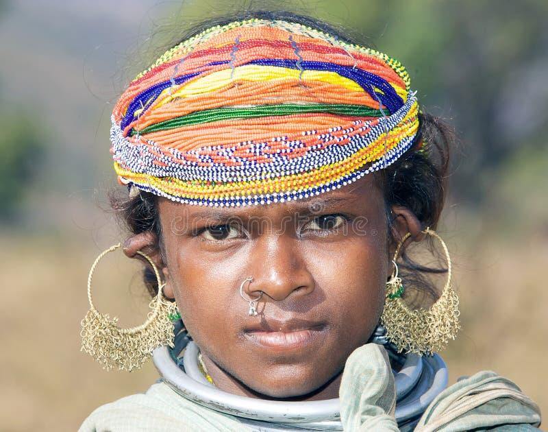 Fêmea nova tribal de Bonda imagens de stock