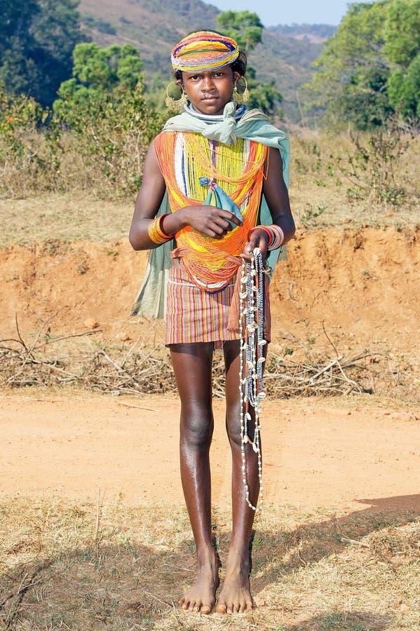 Fêmea nova tribal de Bonda imagem de stock royalty free
