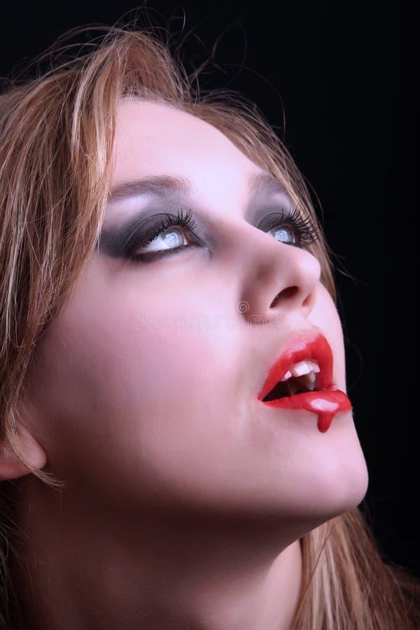 Fêmea - vampiro foto de stock