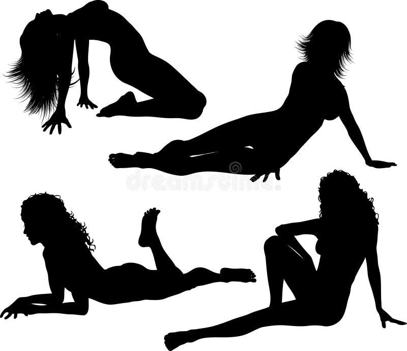 Fêmeas 'sexy' ilustração royalty free