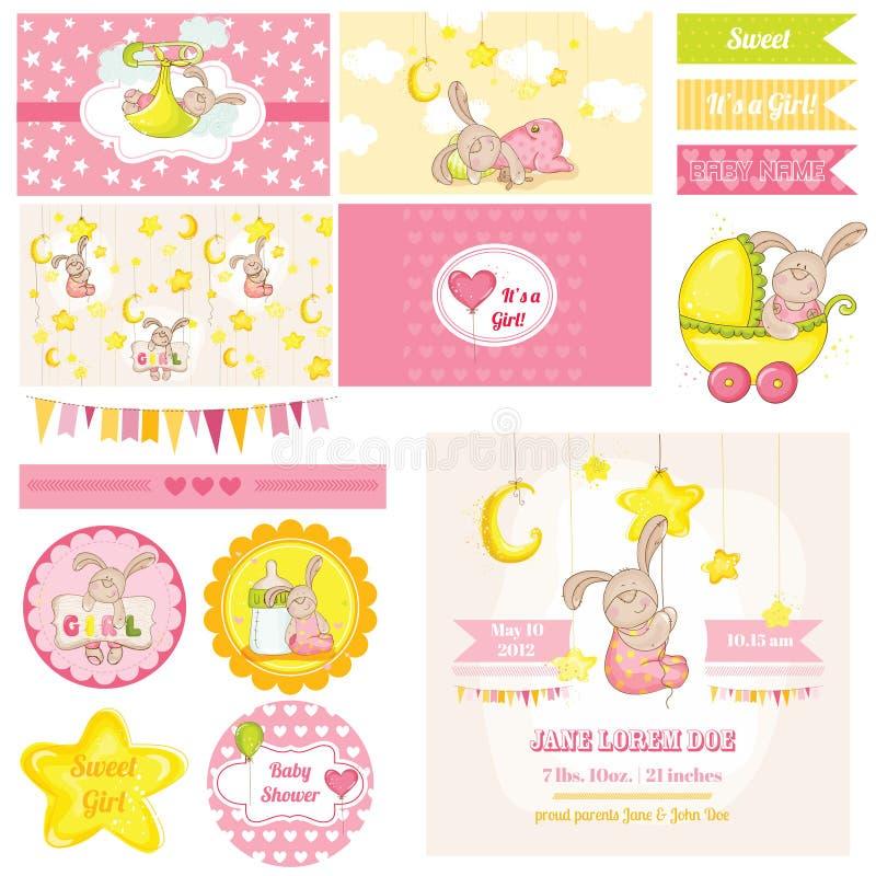 Fête de naissance Bunny Theme illustration libre de droits